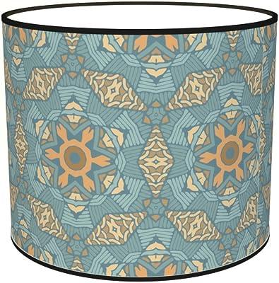 Abat-jours 7111306787342 Imprimé Marek Lampe de Chevet, Tissus/PVC, Multicolore