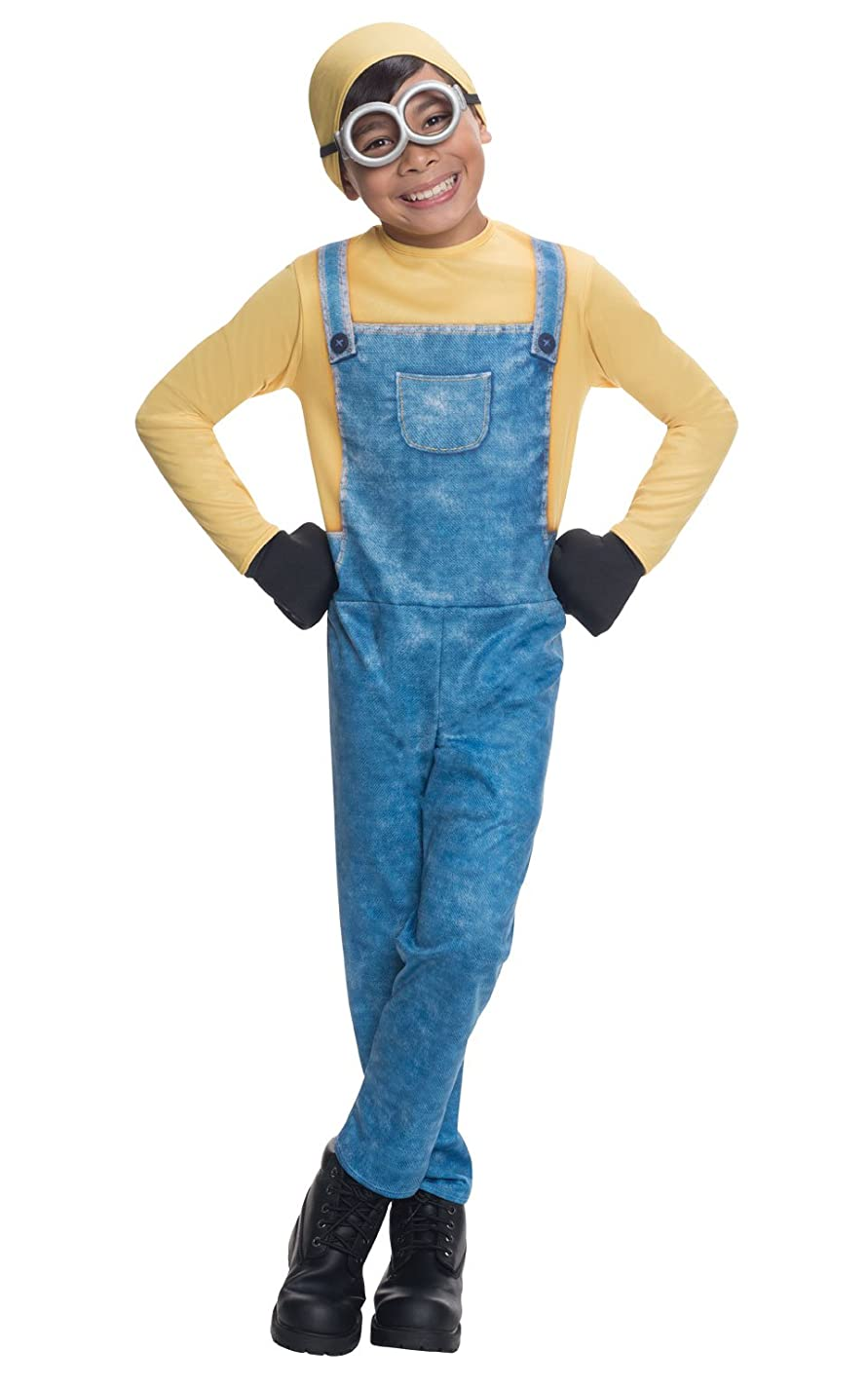 デクリメントハウジング考えMinions Movie: Minion Bob Child Costume 手下映画:ミニオンボブ?チャイルドコスチューム?ハロウィン?サイズ:Medium