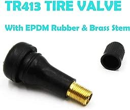 Accretion TR413 Rubber Snap-in Tire Valve Stem (100pcs/bag)