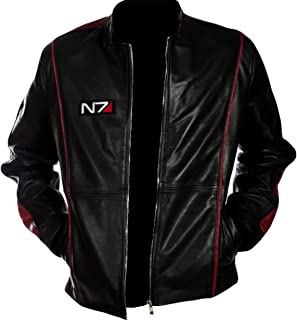 N7 Street Fighter Commander Moto Black Gaming Biker Leather Jacket