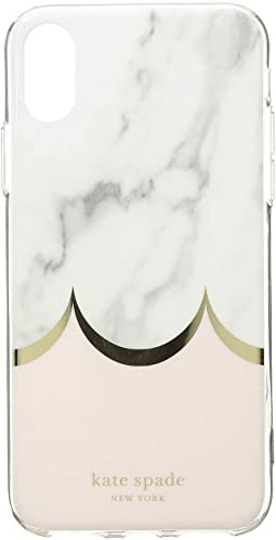 Marble Scallop Phone Case for iPhone XS