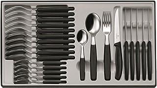 Victorinox 6.7233 Ménagère 24 pièces Swissclassic, Acier Inoxydable, Noir, 30 x 5 x 5 cm
