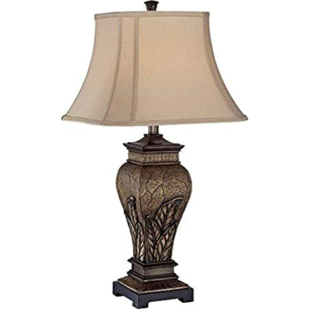 Uttermost 27084 Xander Lamp 17 75 X 12 X 27 Silver Leaf Atlantis Bronze Table Lamps