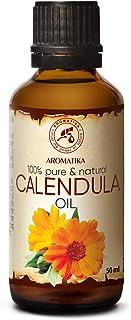 Ringelblumenöl 50ml - Calendulaöl - 100% Reines - Calendula Öl - Basisöl - Calendula Officinalis - Ringelblumen Öl für Gesicht - Nägel - Hände - für Schönheit - Massage - Kosmetik - Körperpflege