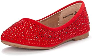 Muy Girls Dress Shoes Slip on Ballerina Flats(Toddler/Little Kid/Big Kid)