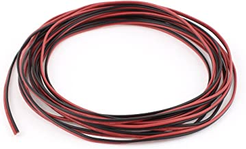 uxcell 5M 22AWG 0.3mm2 Red Black Dual Core Cable Wire for Car Auto Speaker