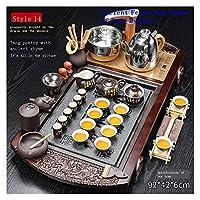 ティーポット 家の装飾アクセサリーティーポット中国茶セット中国のティーセットの式典カンフーティーセットセット ティーカップとソーサーセット (Color : D6)