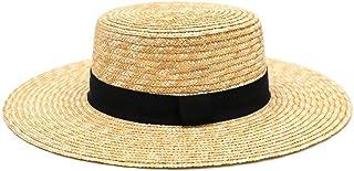 Wxcgbtym قبعة الشمس، أزياء سترو قبعة في الهواء الطلق الترفيه الشمس قبعة الصيف شاطئ السيدات قبعات البرية سترو قبعة للنساء