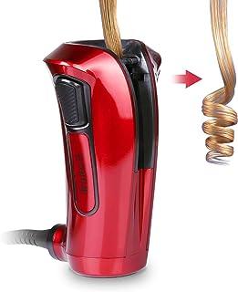 comprar comparacion iGutech Rizador de pelo automático con cerámica Turmalina, calentador y monitor LED (Rojo)