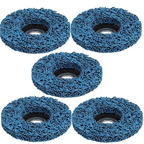 Rust Extracción de la rueda de 125 mm remoción de pintura plástica de madera de nylon pulido rueda óxido azul 5PCS para pulir, abrasivos