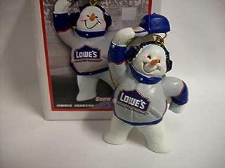 Jimmie Johnson #48 Nascar Snowman Christmas Ornament