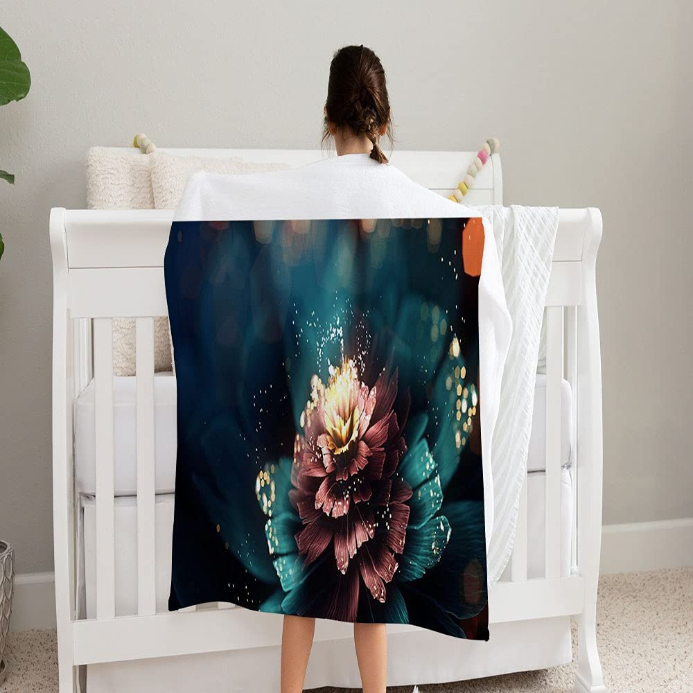 GANTEE Fantasy Fractal Super-cheap Flower Super Soft All items free shipping and Fleece Blanket Cozy