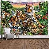 WERT Tapiz del Mundo Animal, Tela de Fondo de la decoración de la cabecera del Dormitorio, Tela de Fondo de la tapicería de la Pared de la decoración del hogar A3 150x200cm