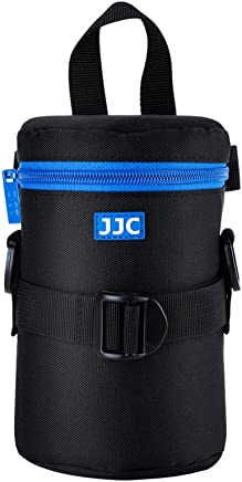 """JJC Deluxe Lens Case Pouch for Canon EF 75-300mm f4.5-5.6/EF 24-105mm f4L/EF 16-35mm F4L/EF 100mm f2.8L,Nikon AF-S 24-70mm f2.8/16-35mm f4G/70-300mm f4.5-6.3G and other Lens below 3.15"""" x 6.69""""(D x L)"""