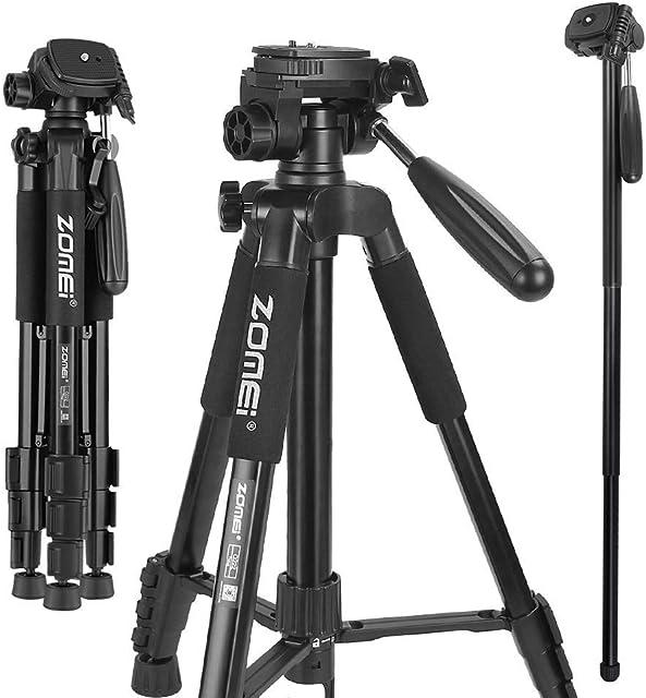 Cámara Trípode Canon Zomei Q222 Monopod Trípode Portátil de Viaje de 360 Grados con Bolsa de Transporte para Canon Nikon Sony DSLR