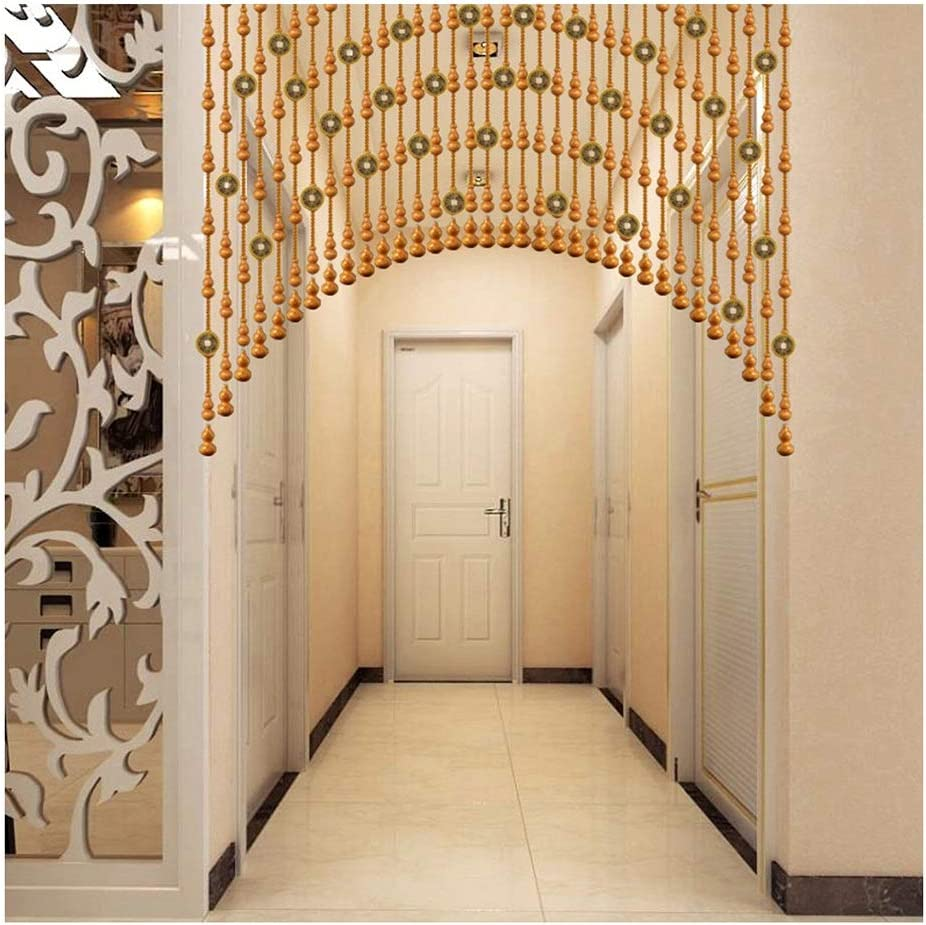 WZNING Wooden Beads Door String Ornaments for Finally Popular brand in the world popular brand Arched Curtains Ro