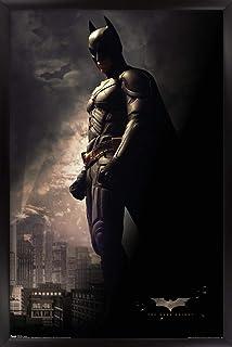 "Trends International DC Comics Movie - The Dark Knight - Batman in The Shadows Wall Poster, 22.375"" x 34"", Black Framed Ve..."