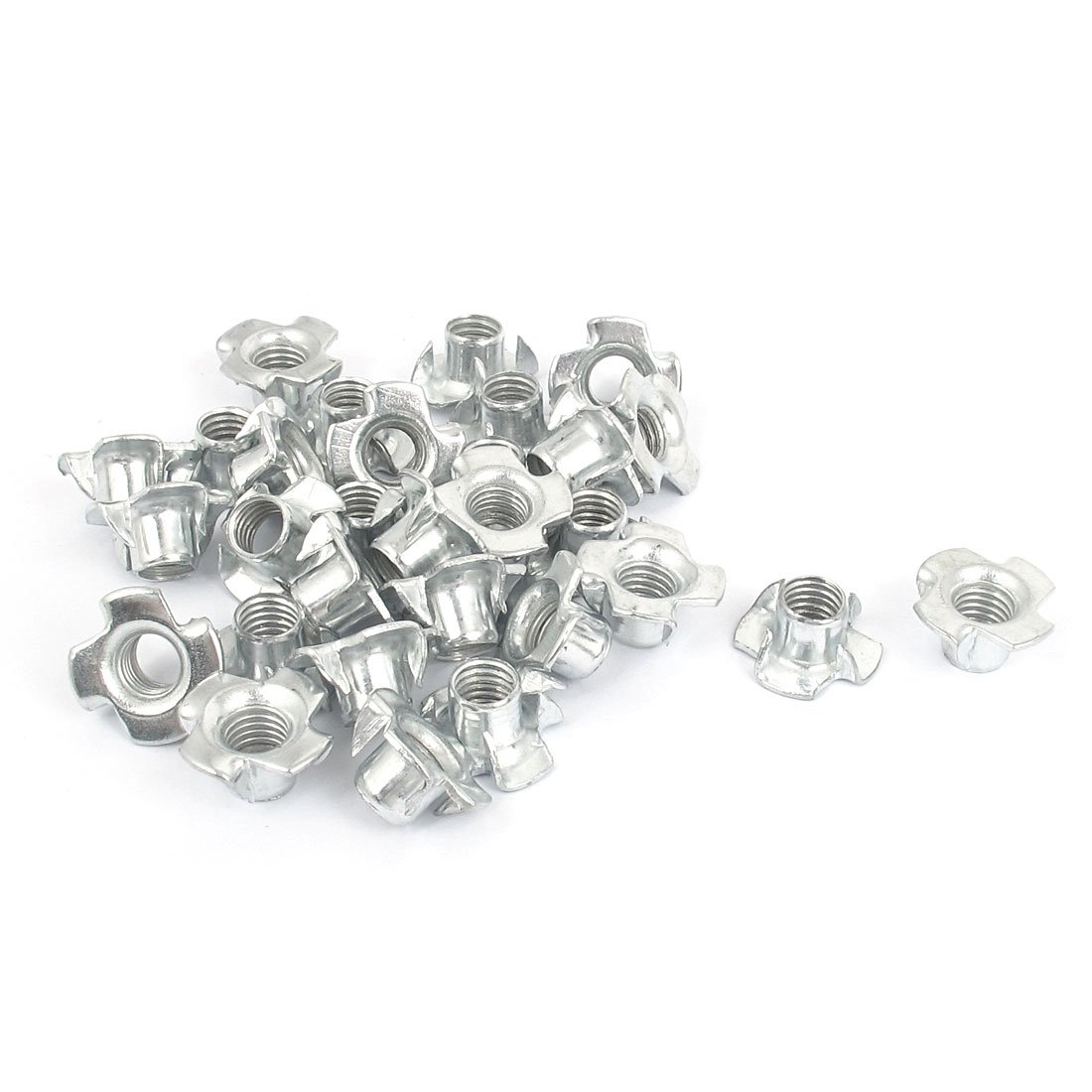 uxcell M8x1.25mm Pack of 30 40% OFF Cheap Sale 4 Pronged Table for New arrival Nut Tee T-Nut