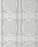 Decken und Wand-Tapete EDEM 101-00 Deckentapete Vinyltapete Decor Paneel Optik Kachelmuster weiß