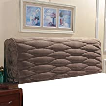 Upholstered Dustproof Bed Headboard Cover Slipcover Protector Solid Color with Willow Weave Bed Head Cover for for Bedroom...