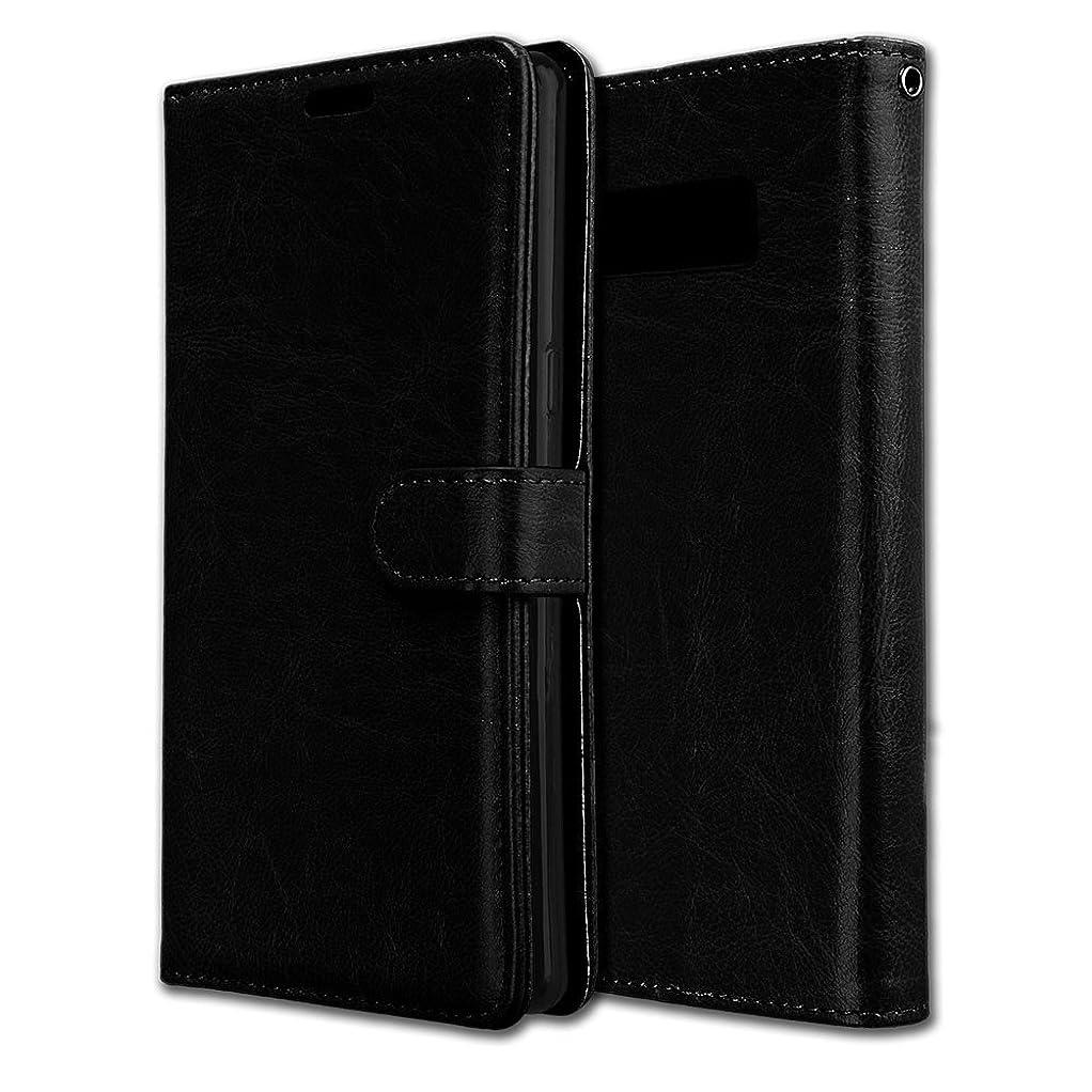 脚本家リーガンアカウントGalaxy Note 8 ケース, Abtory ハンドメイド 高級PUレザー ケース 手帳型 保護ケース カードポケット付き 機能付き マグネット式 for Samsung Galaxy Note 8 Black