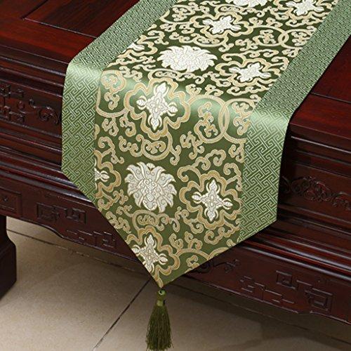 I will take action now Drapeau de table classique simple chemin de table TV accessoires piano housse tissu (couleur : style 2, taille : 33 x 230 cm)