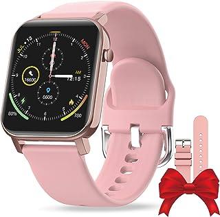 EPILUM Smartwatch, 1,4 Pulgadas de reloj inteligente mujer con Correa Repuesta,IP68 Impermeable pulseras mujer, con Pulsómetro,Cronómetros,Calorías,Monitor de Sueño,Podómetro Monitores de Actividad,relojes inteligentes.