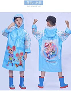 Duanhuixia Add Thick Cartoon Children Raincoat, Zodiac Boys and Girls Students with a Big Bag Raincoat