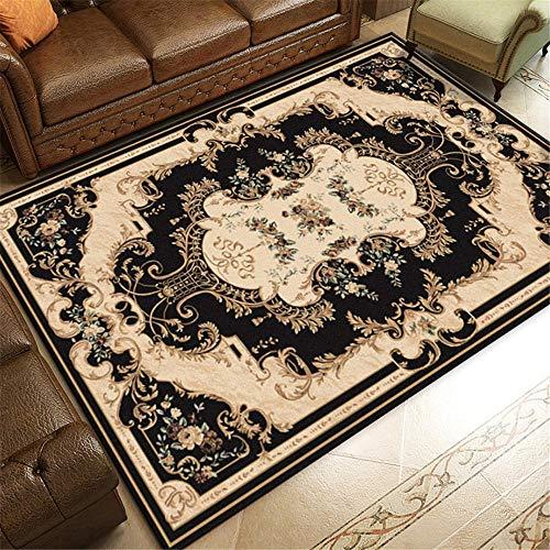 WBDYMX Woonkamer kinderen slaapkamer thuis decor grote tapijt Anti-slip vintage bloemmotief gemakkelijk schoon te maken studie tapijt
