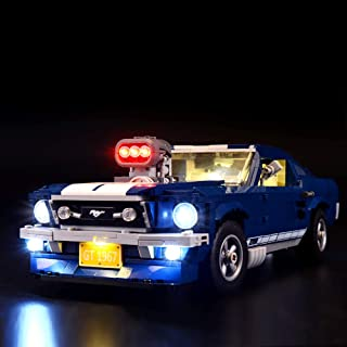 BRIKSMAX Led Lighting Kit for Ford Mustang-Compatible with Lego 10265 Building Blocks Model- Not Include The Lego Set