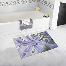 Agapanthus Flower Blue Purple Delicate Color Custom Non-Slip Bath Mat Rug Bath Doormat Floor Rug for Bathroom 20 X 32 Inch