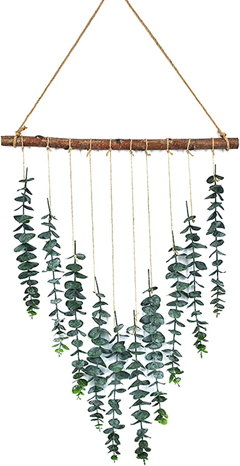 wirlsweal Artificial Eucalyptus Wall Eucalypt Fort Worth cheap Mall Hanging Decor-Fake