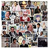 The Office Stickers Pack of 50 Stickers, Sticker for Water Bottle,Laptops, Computers, Flasks, Notebook for Officers Adults