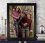 Foto-Nachdruck, Rupert Grint [Ron Weasley], Emma Watson