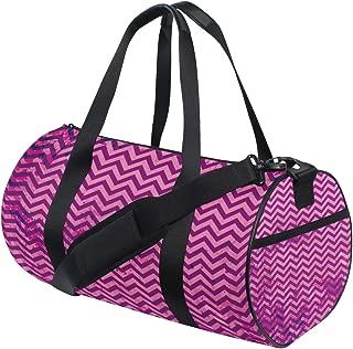 Duffel Bag Purple Grunge Chevron Background Womens Garment Gym Tote Bag Best Sports Bag for Men