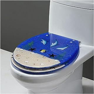 ゆっくりと閉じる樹脂製便座、3D効果の頑丈で耐久性のある便座、オープンボトムロックに適しており、U/V/O型トイレのふたに使用されます,K-Open
