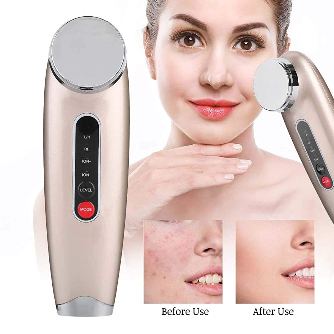 始まり性交デッキフェイシャルビューティーマシーン - しわ、スキンケア用品、洗顔料、フェイシャルリフトを引き締め、肌を若返らせるために毛穴を縮めます