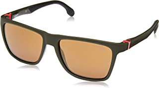 ef9c71cb87 Carrera 5047 S Matte Green Military Brown Gold Lens Rectangular Unisex  Sunglasses