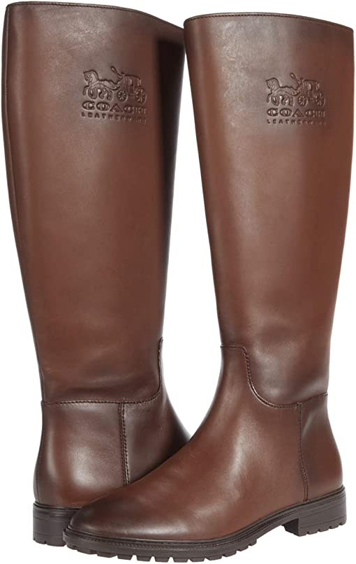 COACH Fynn Leather Boot,Walnut