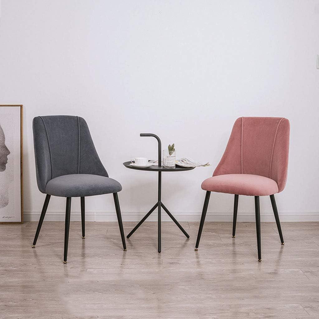 HTL Chaises de Bureau Rembourré Chaise Moderne Pieds En Métal Chaises de Cuisine Côté, Pour Salle À Manger Salon, 34