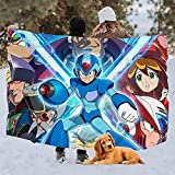 Yuanmeiju Fleece Coperta Megaman X Legacy Collection Fleece Coperta Sofa Dorm Throw Coperta Bedding Bedroom Warm Cozy Living Room 3 Sizes Printed