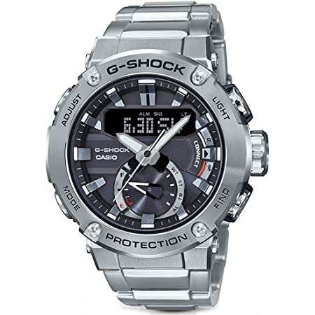 Men's Casio G-Shock G-Steel Carbon Core Guard Connected Stainless Steel Watch GSTB200D-1A
