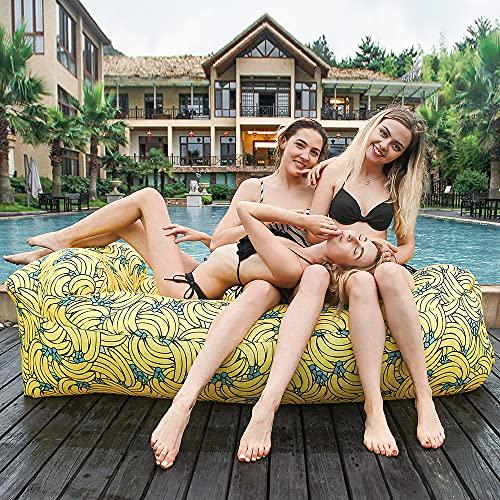 SofáInchable,TumbonaInflablePortátil,SofáInflabledePlaya,ColchóndeAireImpermeableparaCamping,Piscina,Jardín,Playa,TomarSol,Vacaciones de Veranoetc.
