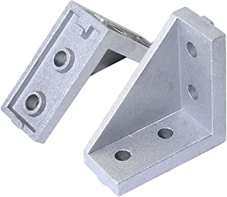 KOOTANS 20pcs Corner Fitting Angle 20x40 Decorative Corner Brackets Accessories L Connector Fasten Connector for 2020 Series Extrusion Aluminum Profile