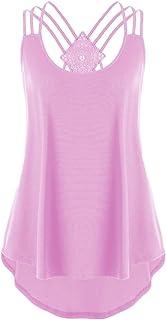 Toimothcn Women Loose Short Sleeve Chiffon Blouse V-Neck Zipper Criss Cross Hem Scoop T Shirts Tops Plus Size
