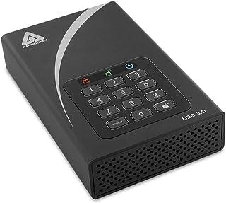 Apricorn Aegis Padlock 16 TB DT 256-Bit Encrypted USB 3.0 Hard Drive (ADT-3PL256-16TB)