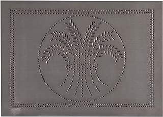 Irvin's Country Tinware Horizontal Wheat Panel in Blackened Tin