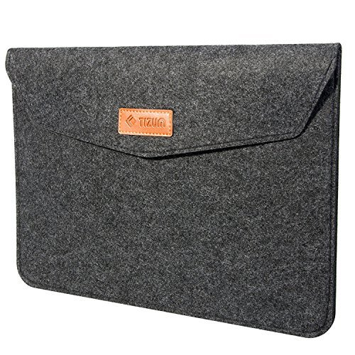 TIZUM Laptop Bag Sleeve Case Cover for 13-Inch/ 13.3 Inch Laptop MacBook Air Pro with Pockets (Grey)