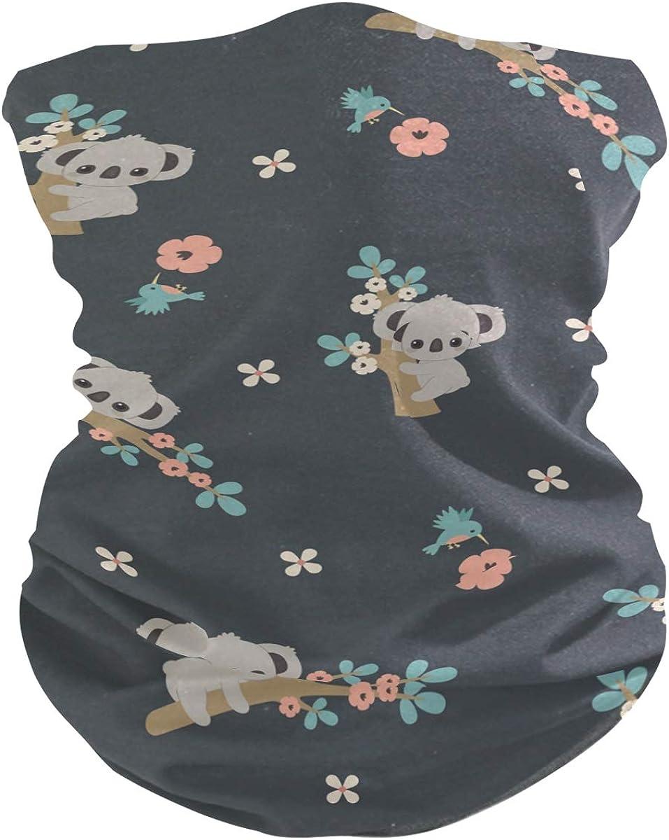 Bandanas for Women Face, Neck Gaiter Women, Bandana Gaiter, Neck Bandanas Cute Cartoon Koala