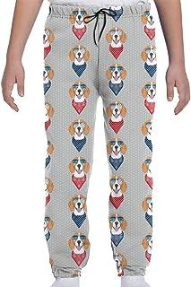 Yesbnow Pantalones de chándal para jóvenes Pantalones Deportivos para Trotar o Pantalones de Loungewear, Gafas de Sol Beag...